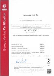 ISO 9001 2015 angol